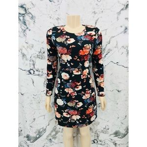 Abercrombie & Fitch Floral Long Sleeve Midi Dress